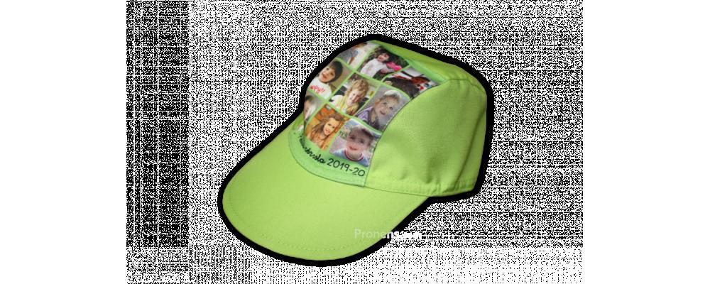 Fabricante de gorras escolares infantiles de tela personalizadas para colegios, escuelas infantiles y guarderías - Gorras escolares verde lima Pronens