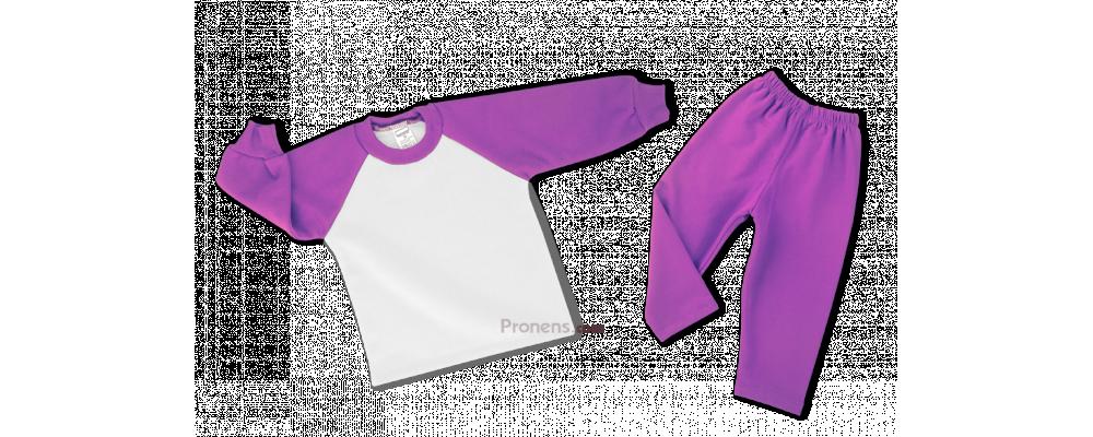 Chándal escolar Modelo Promoción Morado-blanco - PRONENS, Fabricante textil de chandals escolares para colegios, guarderías y escuelas infantiles