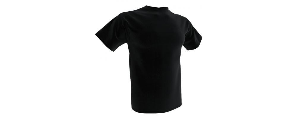 Camiseta publicidad negra - Camisetas publicidad Pronens