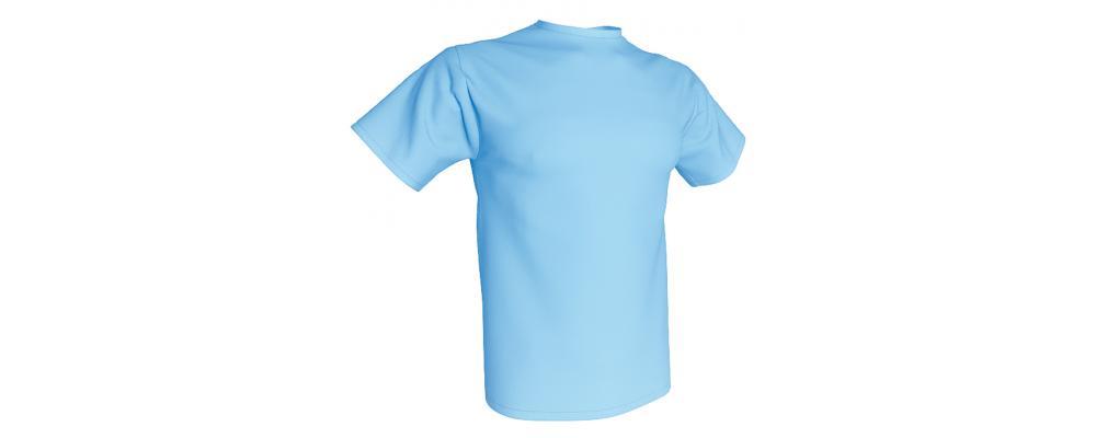 Camiseta publicidad celeste - Camisetas publicidad Pronens