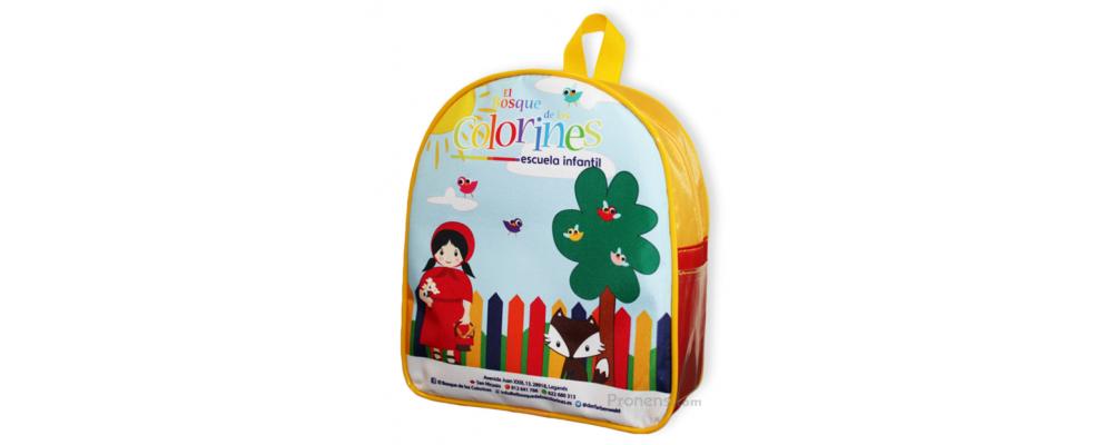 Fabricante de mochilas escuela infantil  personalizadas