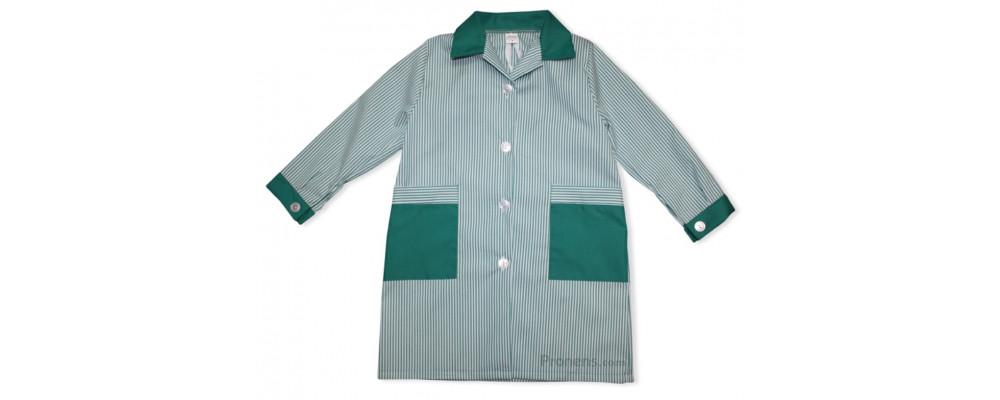 Batas escolares personalizadas para colegios cuello camisa verde