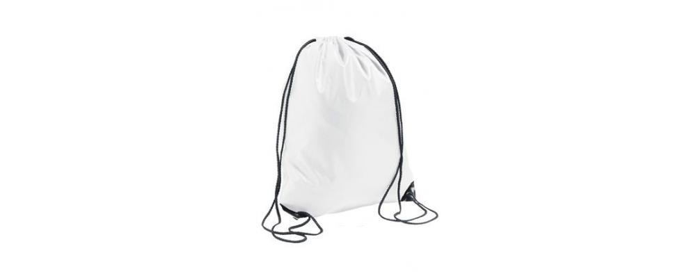 mochila poliester blanca - mochilas escolares Pronens