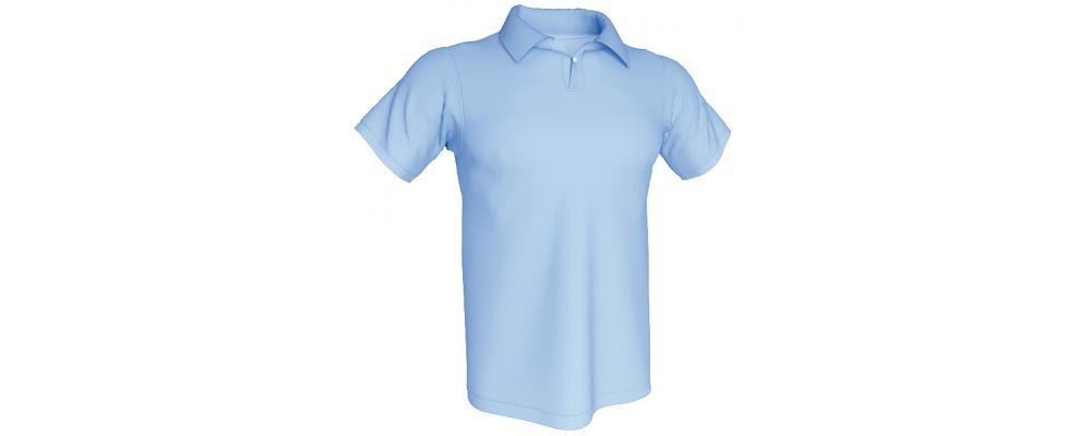 Polo azul personalizado - Polos personalizados para empresas