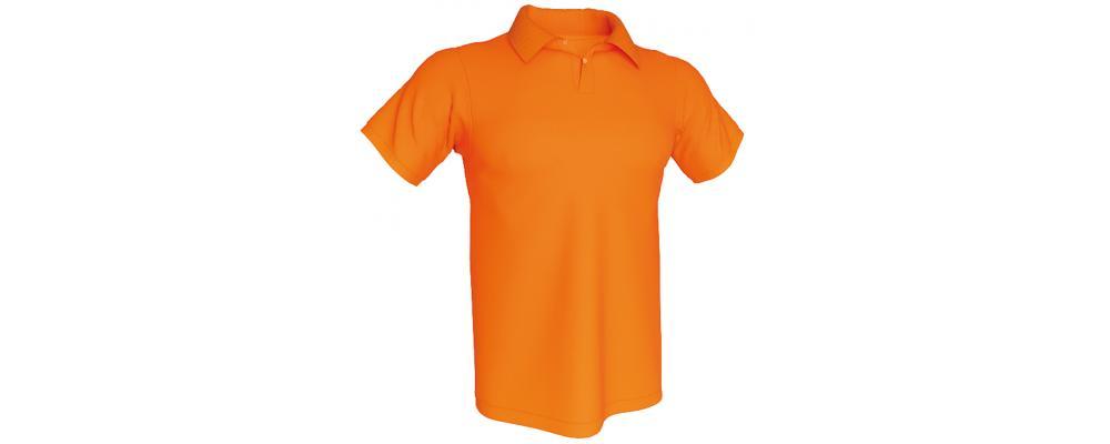 Polo naranja personalizado - Polos personalizados para grupos y colectivos
