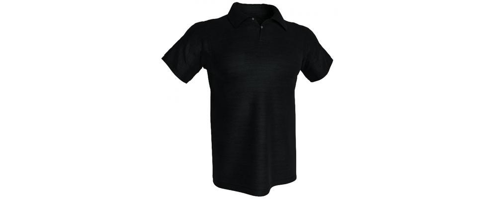 Polo negro con tu logo personalizado  - Polos personalizados Pronens