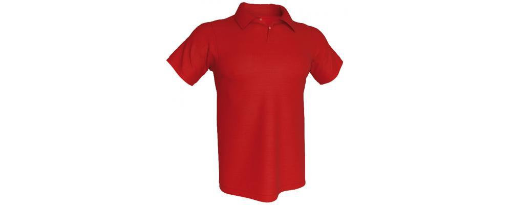 Polo rojo personalizado - Polos personalizados para grupos y colectivos