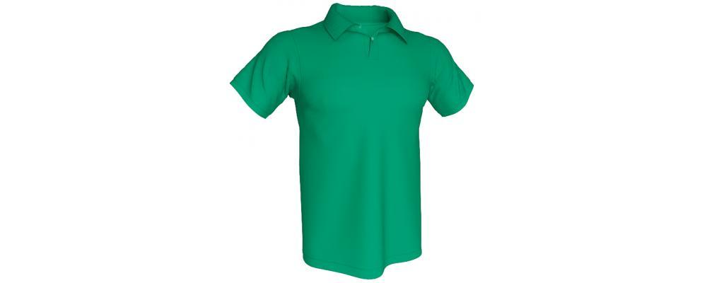 Polo verde con tu logo personalizado  - Polos personalizados Pronens