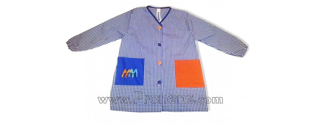 Batas escolares personalizadas para colegios cuadro azulón