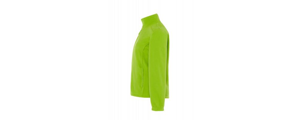 Lateral Forro polar personalizado verde pistacho - Fabricante de forro polar personalizado PRONENS