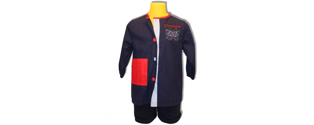 batas babys escolares popelin - uniformes escolares Pronens 1