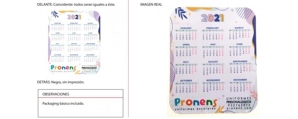 Fabricante alfombrilla ratón personalizada con calendario para empresas y colegios