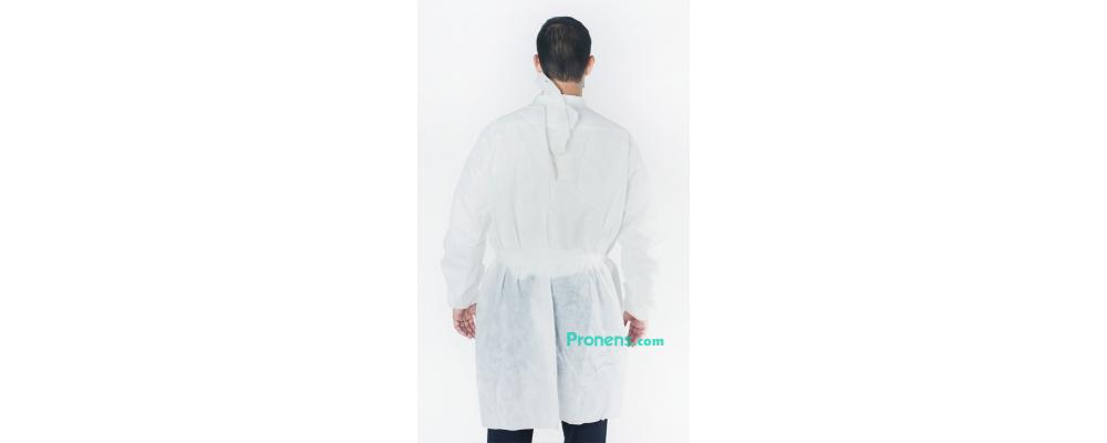 Espalda bata sanitaria desechable tejido no tejido 47 gr - batas sanitarias desechables Pronens