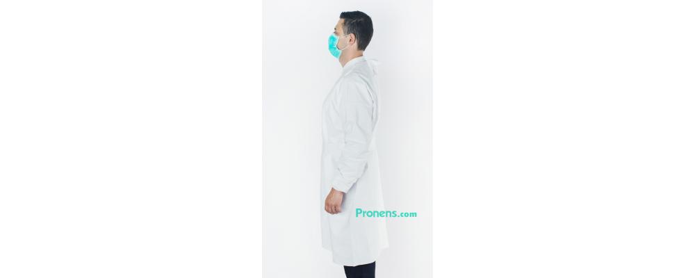 Lateral bata sanitaria impermeable - Batas sanitarias impermeables Pronens