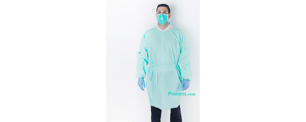 Bata sanitaria desechable impermeable TNT 100gr - Batas sanitarias impermeables Pronens