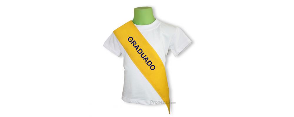 Banda graduación infantil amarilla - Bandas graduación infantil guardería