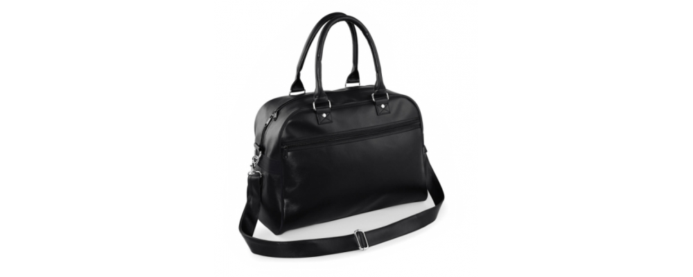 Bolsa deporte retro negro liso - Bolsas deporte personalizadas Pronens