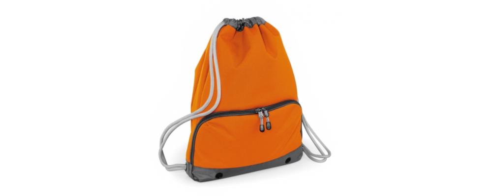 Bolsa mochila cremallera naranja - Bolsas deporte personalizadas Pronens