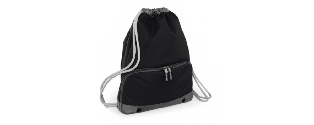 Bolsa mochila cremallera negro - Bolsas deporte personalizadas Pronens