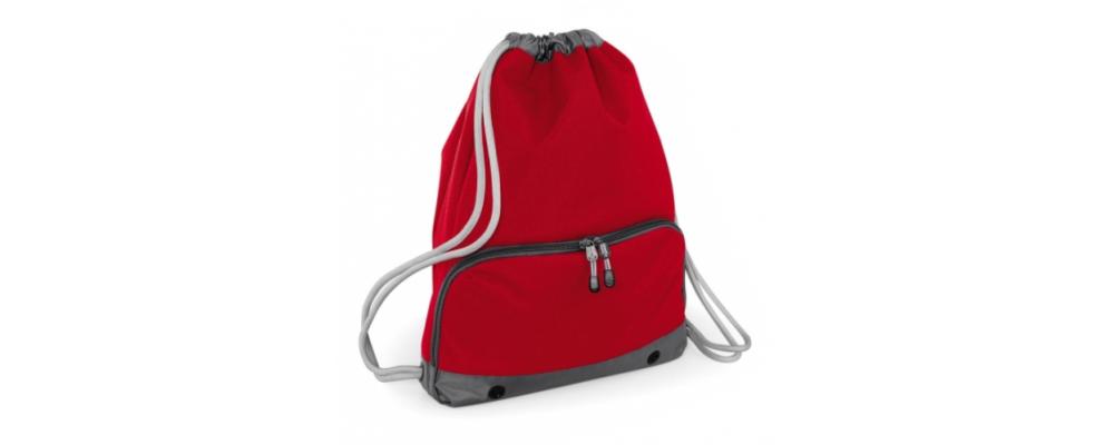Bolsa mochila cremallera rojo - Bolsas deporte personalizadas Pronens