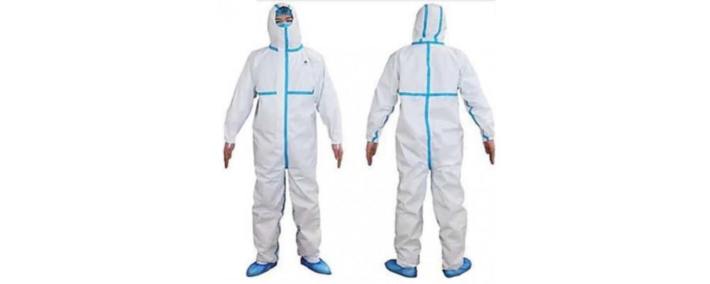 Buzomono de protección desechable con capucha EN 13034 Tipo 6 Riesgos químicos. EN 14126 Tipo 6-B Riesgos biológicos