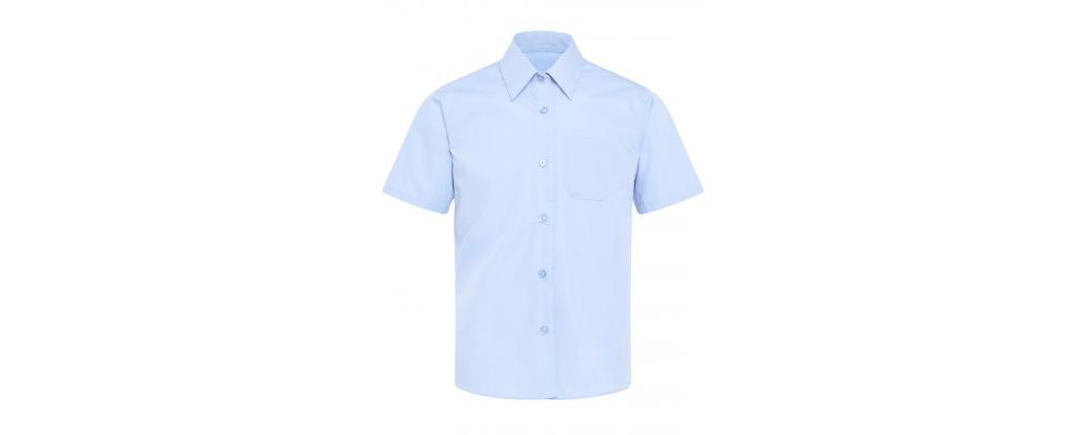 Camisa escolar azul manga corta - camisas escolares Pronens
