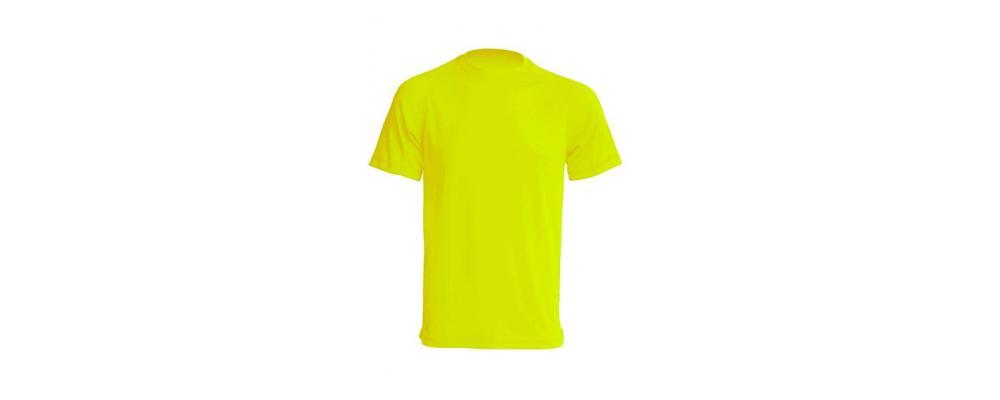 Camiseta tecnica Amarillo fluor - Uniformes escolares Pronens