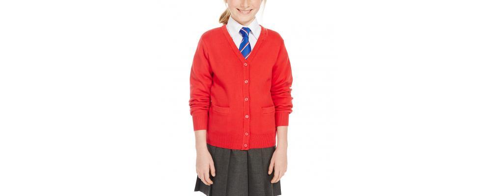 Cardigan escolar rojo - Uniformes escolares Pronens