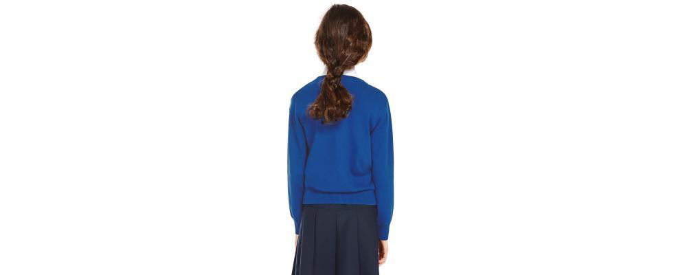 Espalda Cardigan escolar azulon - Uniformes escolares Pronens