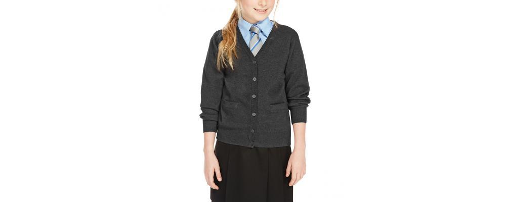Cardigan escolar gris - Uniformes escolares Pronens