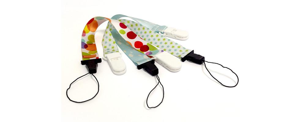 Fabricante de chupeteros personalizado para la sujección de chupetes - Chupeteros personalizados