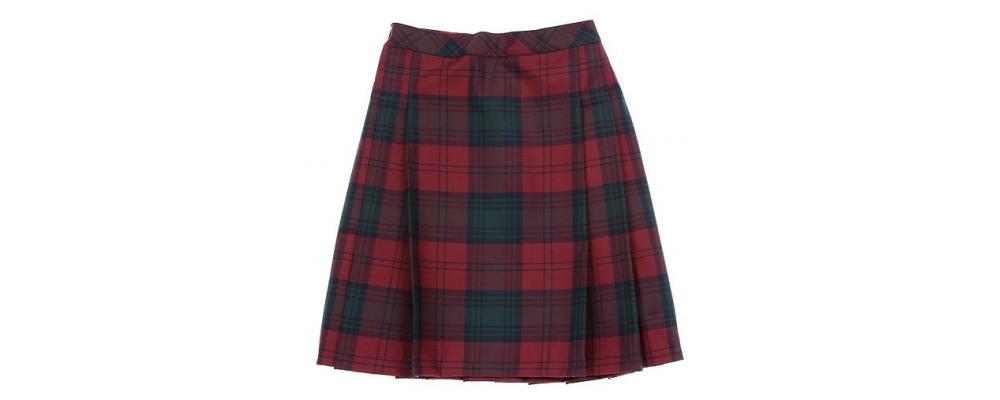Falda escolar cuadro rojo - Uniformes escolares Pronens