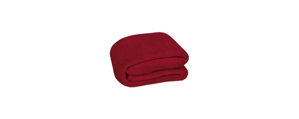 Manta polarbebé personalizada rojo