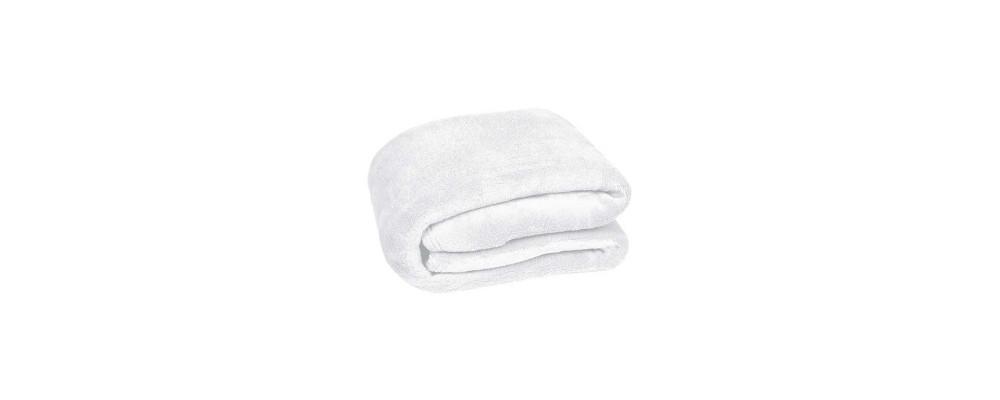 Manta polarbebé personalizada blanco