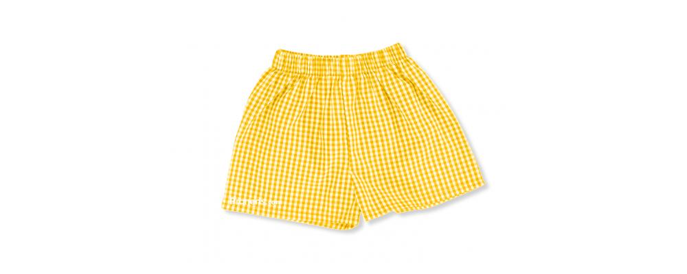 Pantalón cuadros amarillo  - Uniformes guardería Pronens