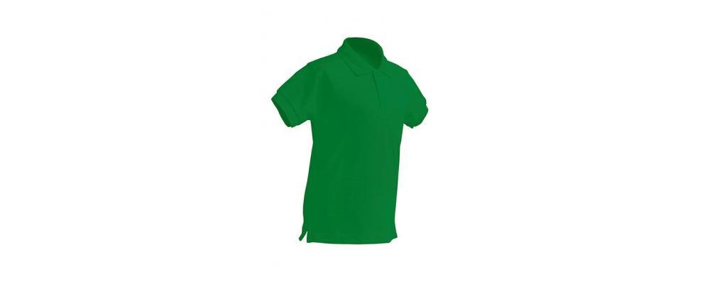 Polo escolar de manga corta verde para escuelas infantiles y colegios - Polos escolares Pronens