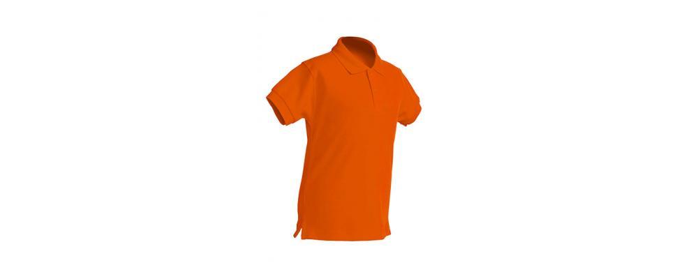 Polo escolar de manga corta naranja para escuelas infantiles y colegios - Polos escolares Pronens