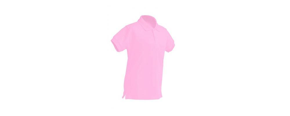 Polo escolar de manga corta rosa para escuelas infantiles y colegios - Polos escolares Pronens