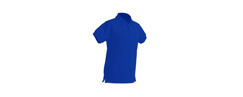 Polo escolar de manga corta azul royal para escuelas infantiles y colegios - Polos escolares Pronens