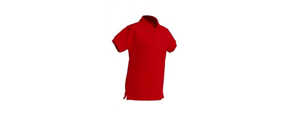 Polo escolar de manga corta rojo para escuelas infantiles y colegios - Polos escolares Pronens