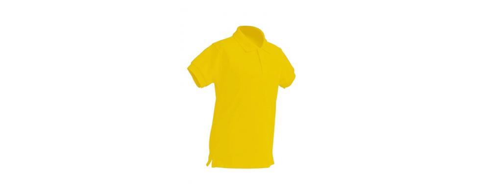 Polo escolar de manga corta amarillo para escuelas infantiles - Polos escolares Pronens