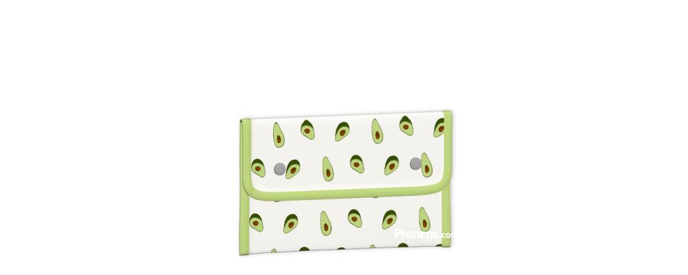 envoltorio ecológico reutilizable, sostenible. Porta bocadillos niño con aguacates