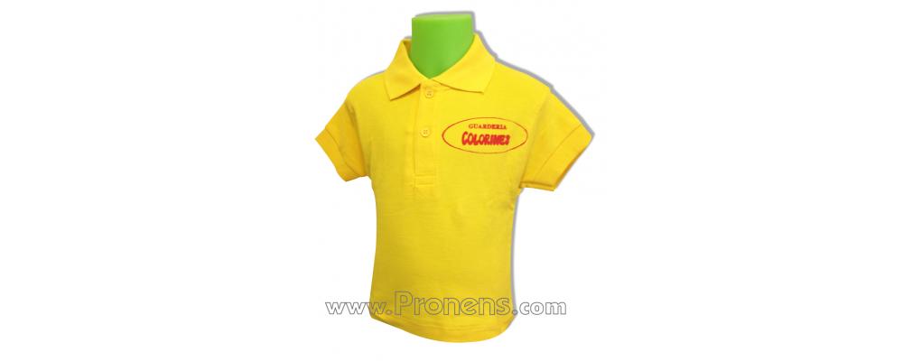 Polo escolar de manga corta amarillo para escuelas infantiles y colegios - Polos escolares Pronens