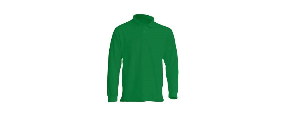 Polo manga larga verde personalizado - Uniformes guardería Pronens