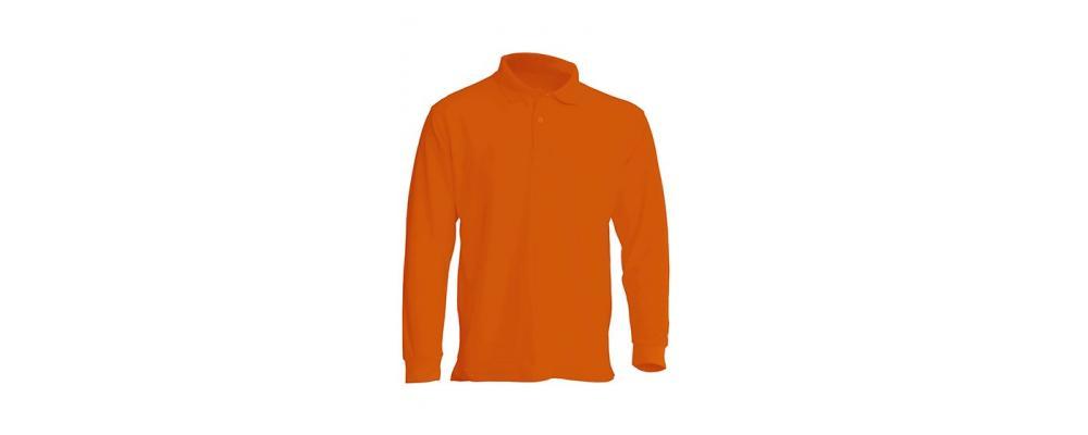 Polo manga larga naranja personalizado - Uniformes guardería Pronens