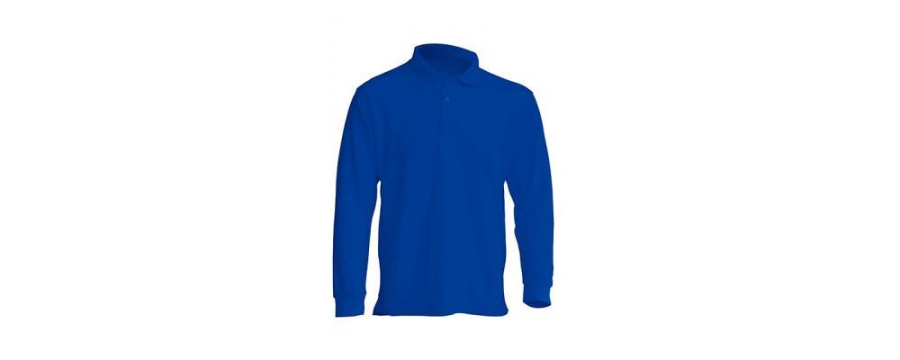 Polo manga larga azulón personalizado - Uniformes guardería Pronens