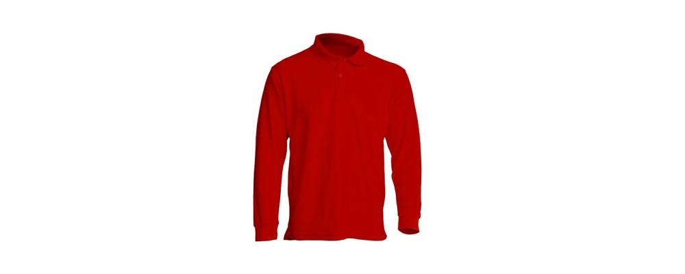 Polo manga larga rojo personalizado - Uniformes guardería Pronens