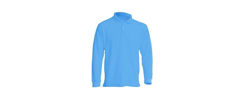 Polo manga larga azul celeste personalizado - Uniformes guardería Pronens