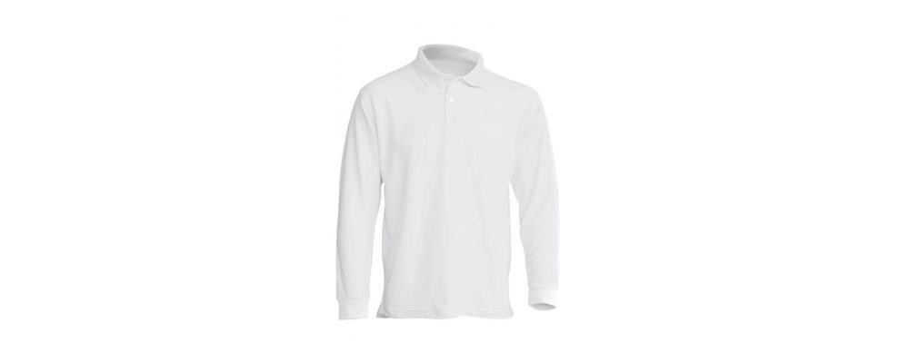 Polo manga larga blanca personalizado - Uniformes guardería Pronens