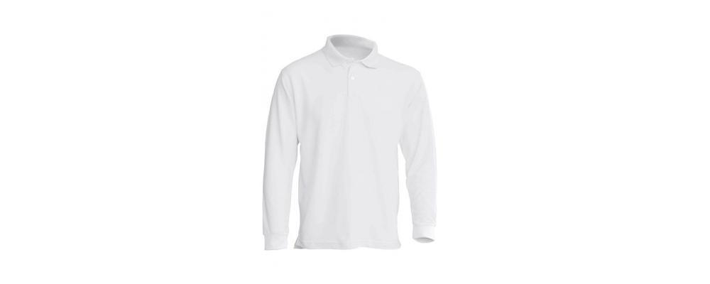 Polo manga larga blanca personalizado - Uniformes guardería Pronens